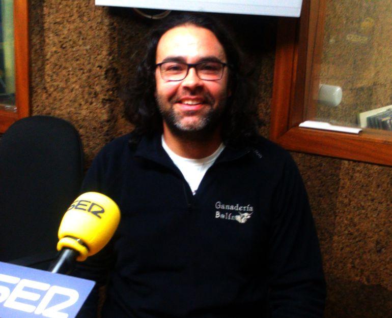 """Antonio Pérez, """"Tonecho"""", de Ganadería Balín, en nuestros estudios hablándonos de su vuelta al campo"""