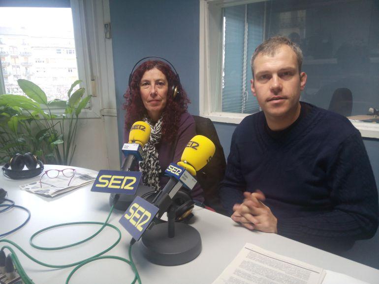 Ainhoa Irazu, técnico de igualdad y Sergio Corchón, delegado de Bienestar Social.