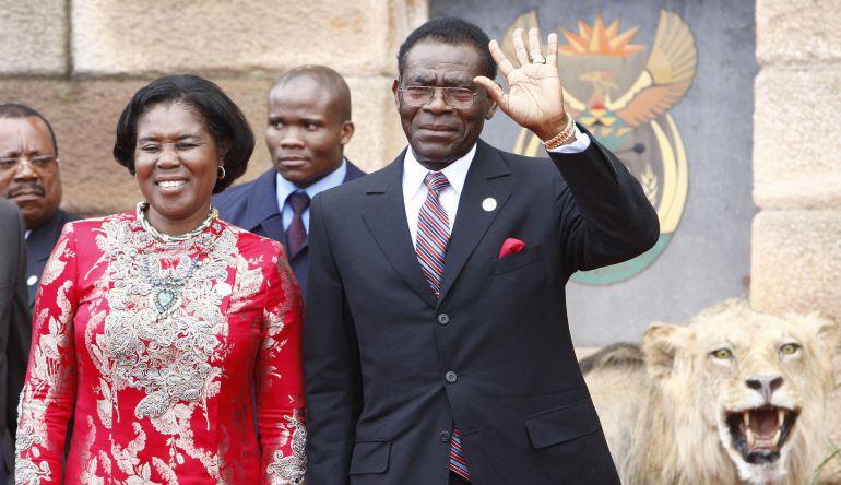 El presidente de Guinea Ecuatorial, Teodoro Obiang, y su esposa, Constancia Mangue, en una foto de mayo de 2009.
