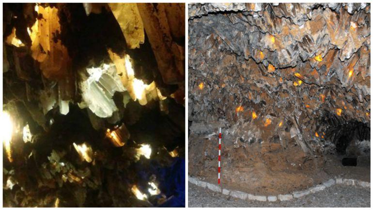 Interior de la mina de lapis specularis de Saceda del Río.