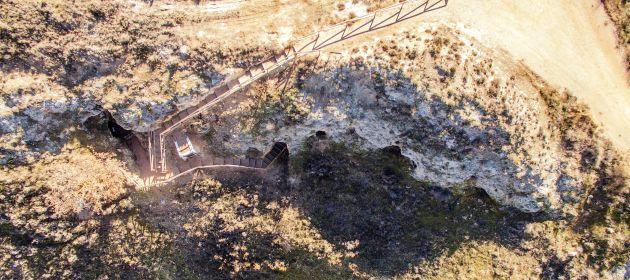 Exterior de la mina de Saceda del Río.