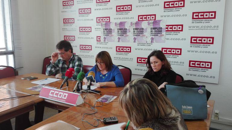 Los responsables del sindicato presentan los actos para el 8 de marzo
