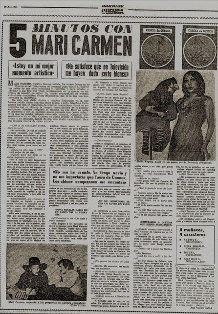 Entrevista publicada en el Diario de Cuenca en 1973.