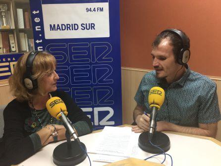 Ana Sánchez de la Coba, secretaria de Igualdad de UGT Madrid, durante la entrevista en 'Hoy por Hoy Madrid Sur'