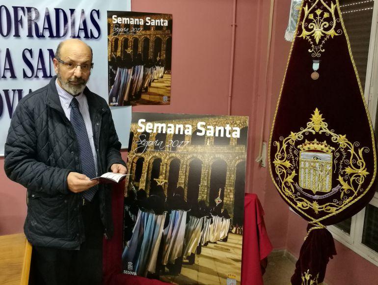 Miguel Hernández presidente de la Junta de Cofradías durante la presentación del programa la próxima Semana Santa