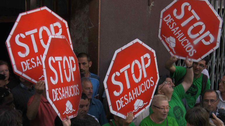 Imagen de archivo de una manifestación contra los desahucios