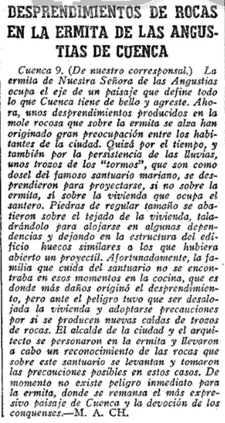 Noticia en Abc el 10 de noviembre de 1965.