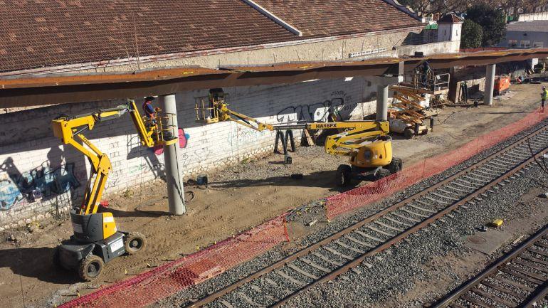 Obras del AVE en la estación de tren de Granada