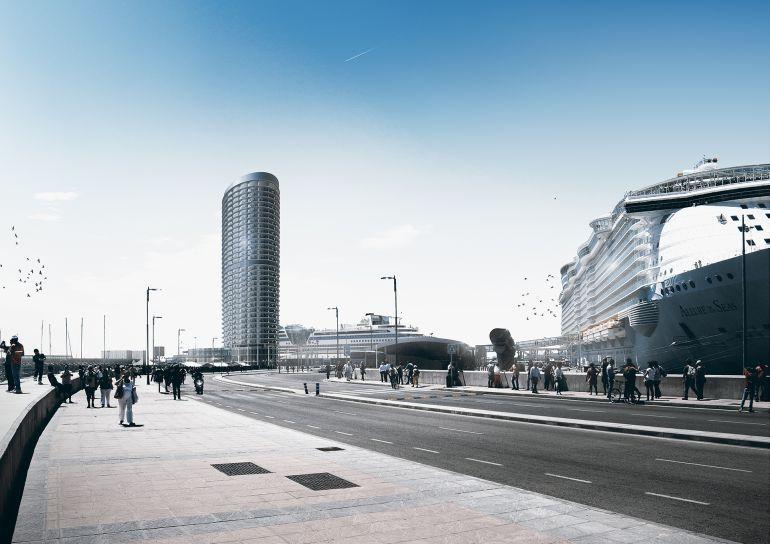 El futuro hotel de lujo del puerto a debate