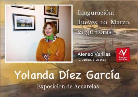 Yolanda Díez cedió el importe íntegro de todos sus cuadros al apoyo a los refugiados