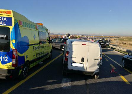 Inagen del choque de los dos vehículos implicados en un accidente a primera hora de la mañana en la SG-20