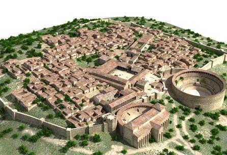 Recreación de la ciudad completa de Segóbriga.