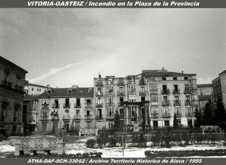 INCENDIO EN LA PLAZA DE LA PROVINCIA DE VITORIA.1995