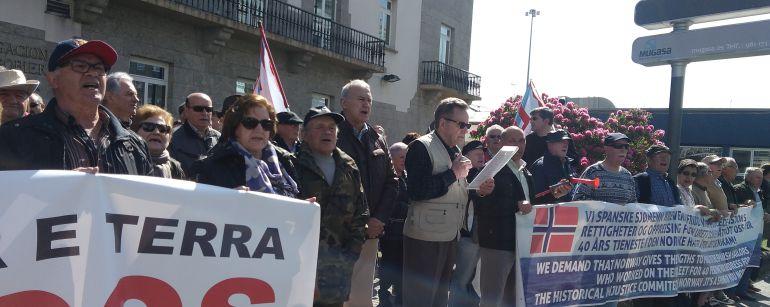 A Coruña: Marineros noruegos vuelven a reclamar sus pensiones frente a la Delegación