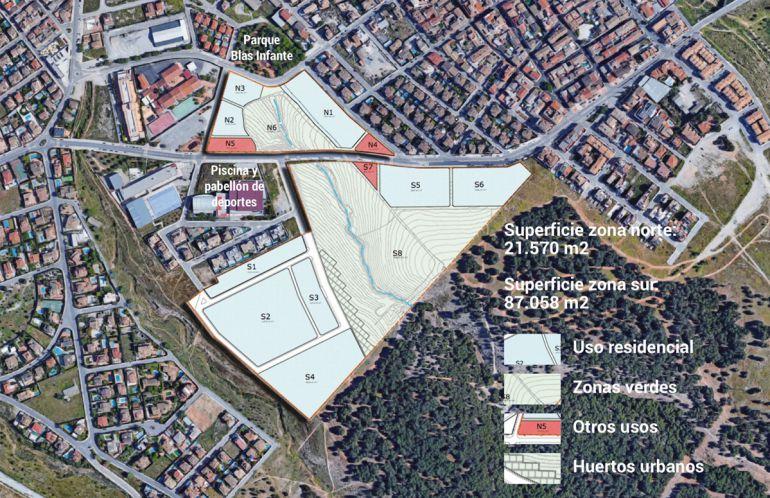 Plano de la nueva macrourbanización en La Zubia (Granada)