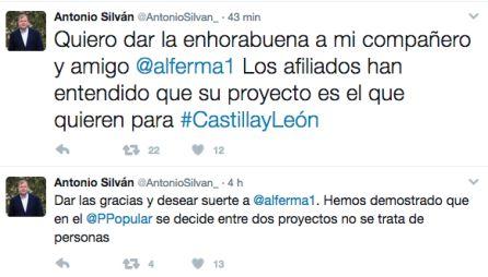 El alcalde de León felicita en Twitter a su rival y ganador de las primarias Alfonso Fernández Mañueco