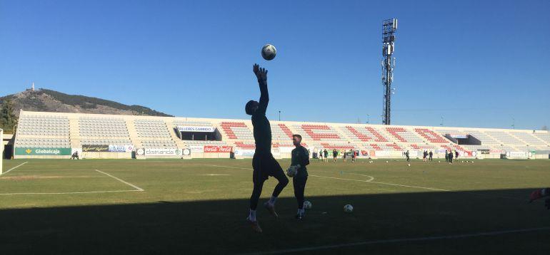 Dani Lorenzo en un entrenamiento en La Fuensanta