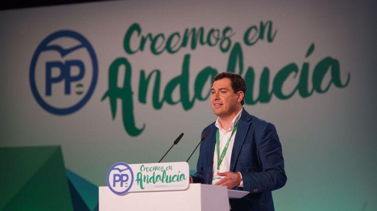 Moreno Bonilla (PP) durante su intervención este sábado en el congreso regional del partido