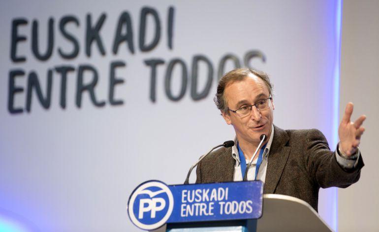 Alfonso Alonso reelegido presidente del PP vasco con el 94,96 % de los votos
