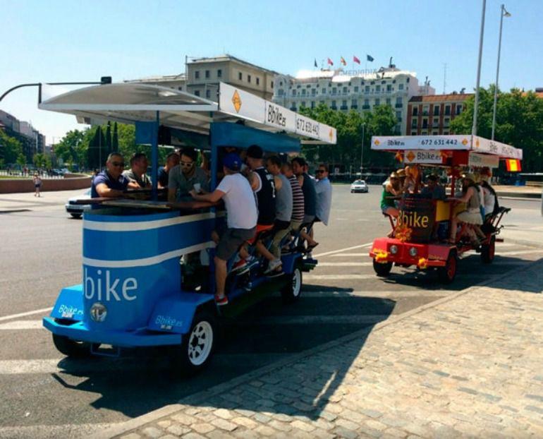 La Policía Municipal inmoviliza las 'bicibirras' en la capital