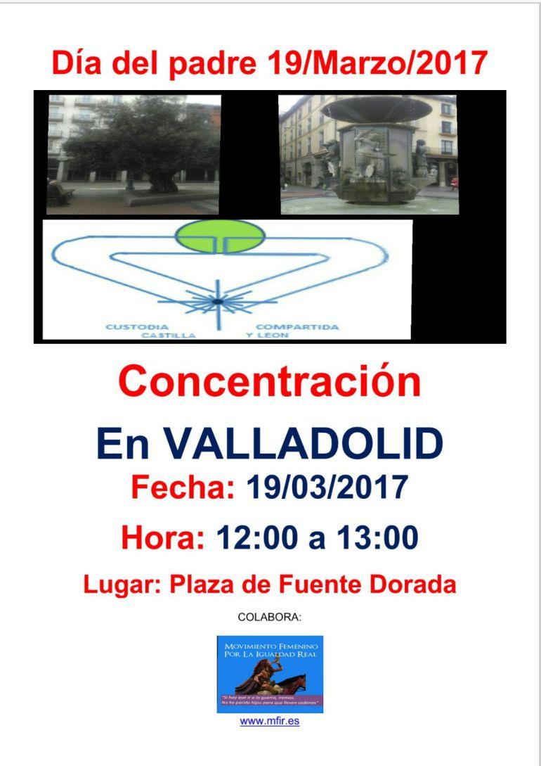 Cartel anunciando la concentración en Fuente Dorada