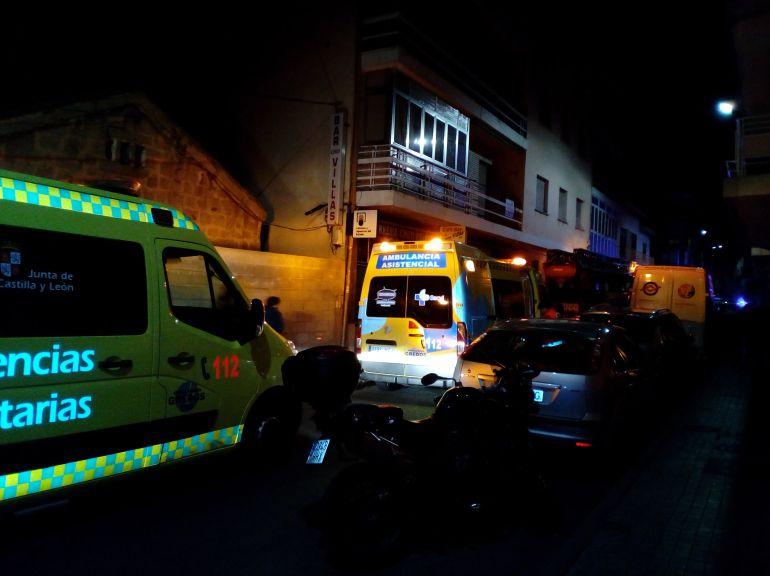 Medios movilizados en el incendio de la calle Capitán Méndez Vigo