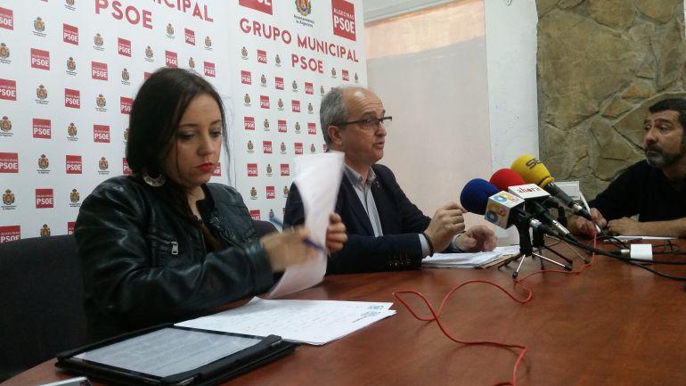María Díaz junto a Fernando Silva.