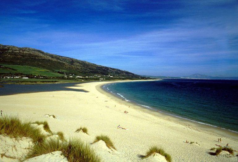 Playa de Valdevaqueros en el Parque Natural del Estrecho