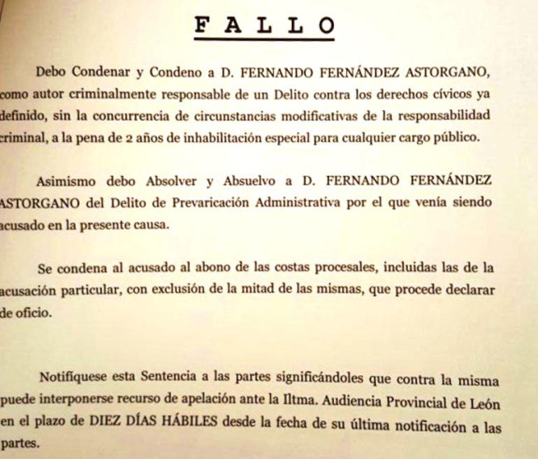 El fallo emitido por el Juzgado de lo Penal número 1 de León