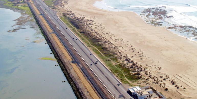 Imagen aérea de la Playa de Cortadura