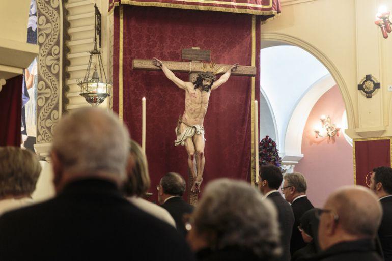 En la imagen, el Cristo de la Hermandad de la Conversión