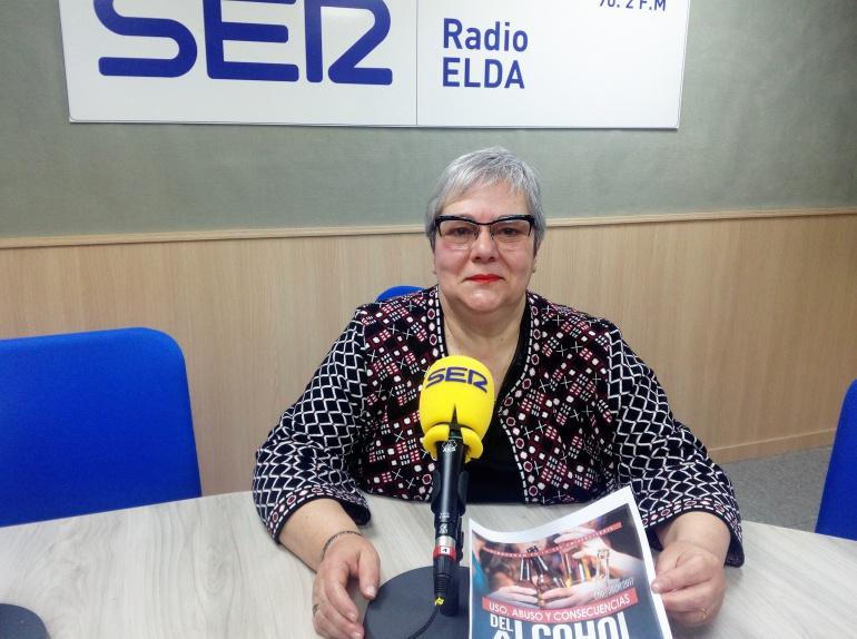 Isabel Mazariegos, secretaria de la Asociación de Alcohólicos Rehabilitados de Elda, Petrer y Comarca