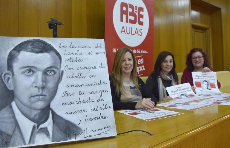 Presentación del homenaje a Miguel Hernández en el Día Mundial de la Poesía