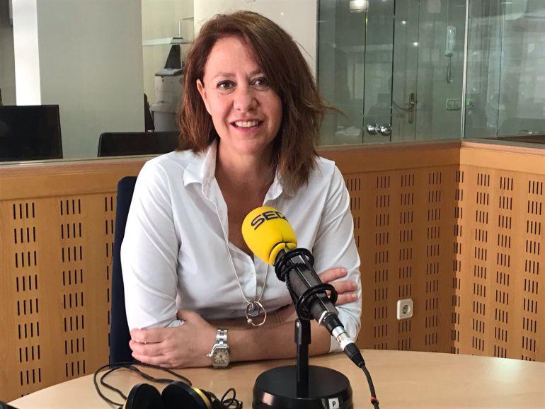 L'alcaldessa, Marta Madrenas, durant l'entrevista al programa HORA GIRONA