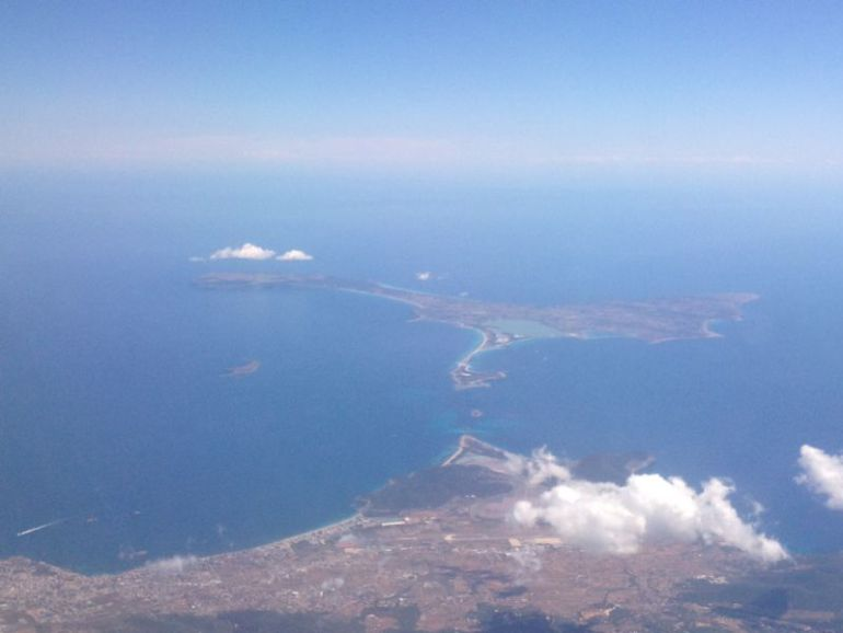 Vista aérea de Formentera