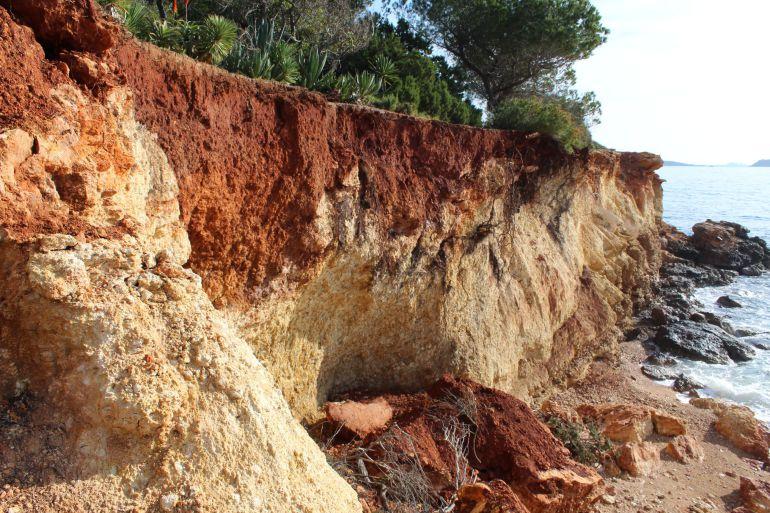 Imagen de archivo de los desprendimientos en Niu Blau tras el temporal