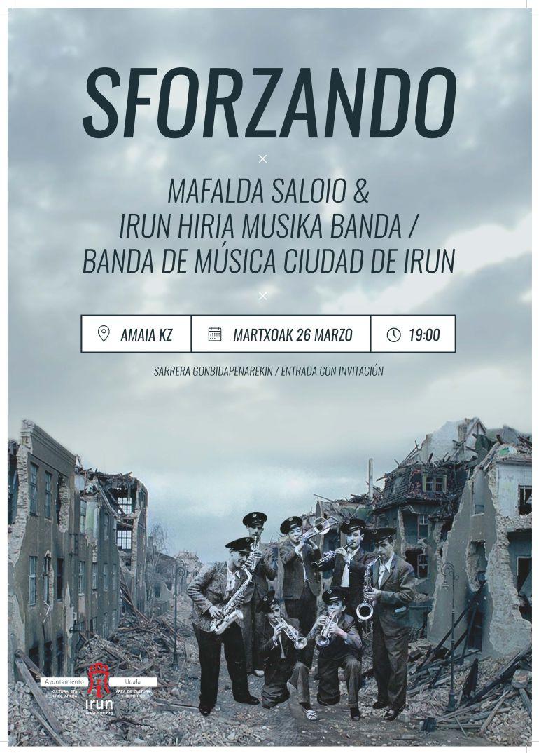 """La Banda de Música """"Ciudad de Irun"""" se acerca al teatro de la mano de la actriz y profesora portuguesa Mafalda Saloio"""