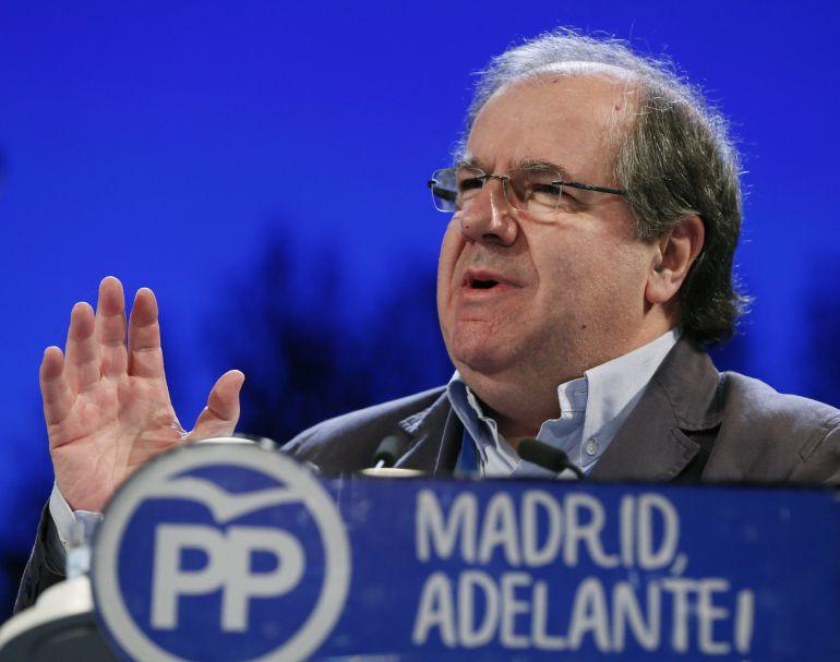 El presidente de la Junta de Castilla y León, Juan Vicente Herrera, durante su intervención en el XVI Congreso del PP de Madrid