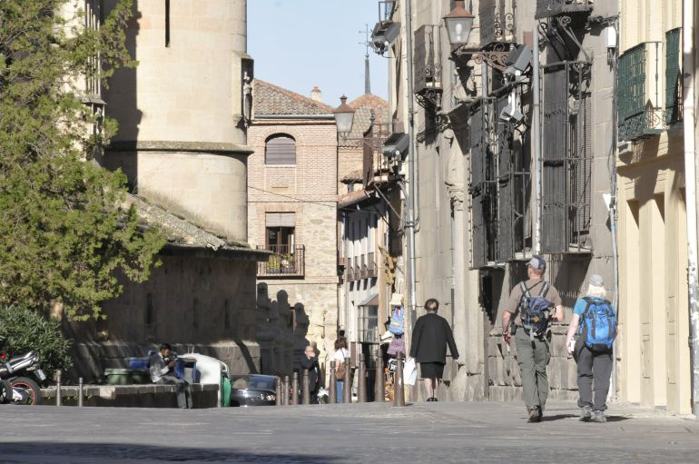 Imagen de la Calle Marqués del Arco que forma parte del programa de rehabilitación de las Canonjías