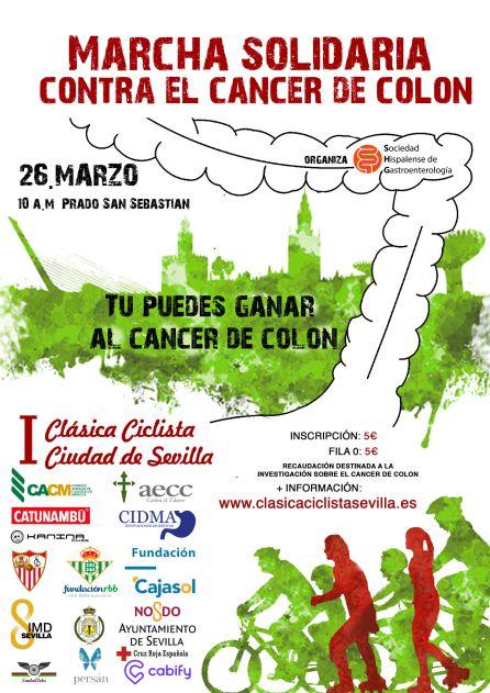 Marcha contra el cáncer de colon este domingo en el Prado de San Sebastián