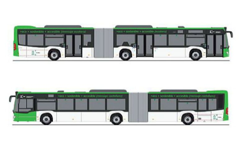 Modelo de los autobuses que llegarán a Vitoria