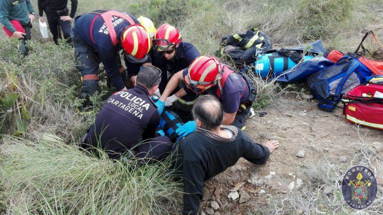 Un hombre herido fue rescatado en el Cerro de San Ginés