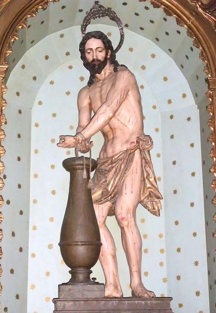 Cristo atado a la columna de la iglesia de san Cecilio