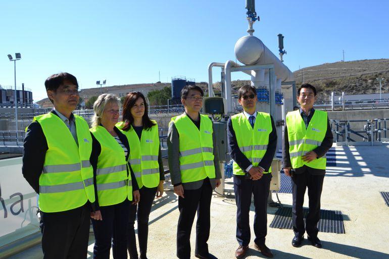 Visita del ministro coreano a las instalaciones de la Estación Depuradora de Aguas Residuales