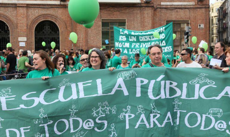 Imagen de archivo de una manifestación convocada por la escuela pública