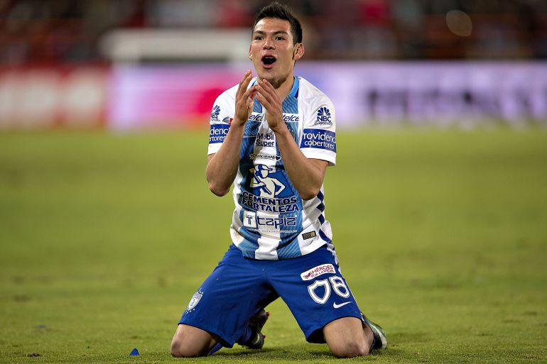Hirving Lozano, uno de los objetivos del Celta para este verano.