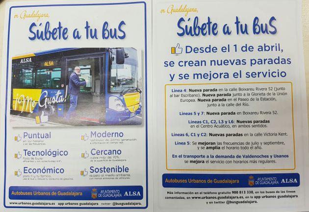 El 1 de abril entran en vigor varias modificaciones en el servicio de autobuses urbanos de Guadalajara: Cambios en el bus urbano de Guadalajara