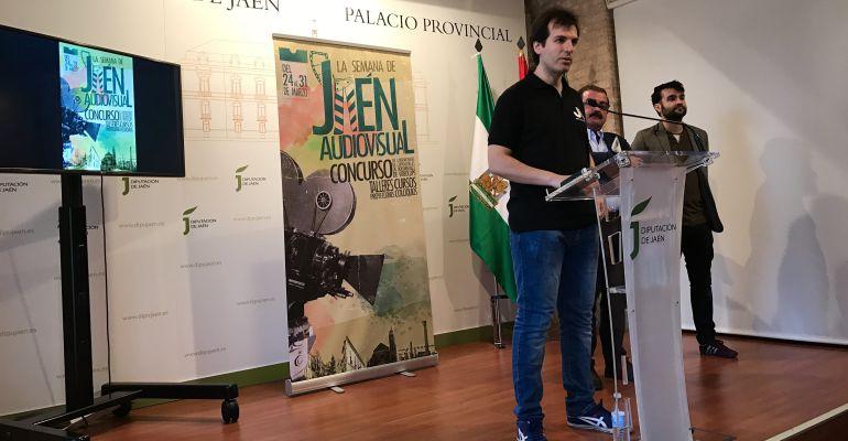 El presidente de Jaén Audiovisual, José Antonio Cobo, durante la presentación de la semana de actividades.
