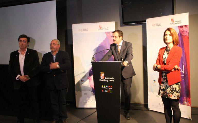 El director general de Turismo interviene en un acto de promoción de las Edades en Cuéllar, esta misma semana.