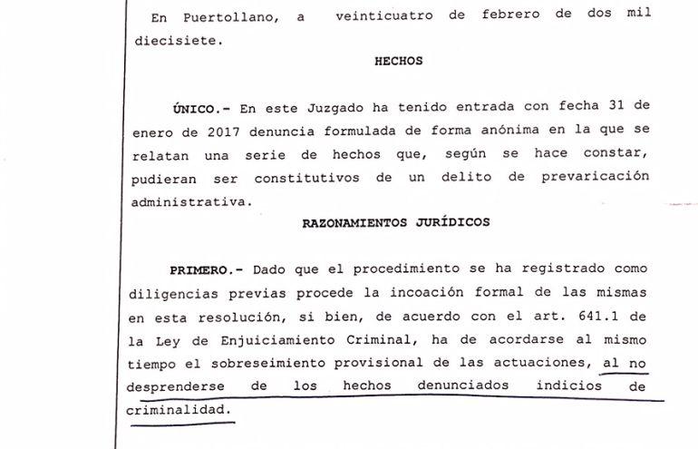 Desestimada la denuncia an nima contra el ayuntamiento de for Juzgado de puertollano